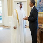 HH Gen. Sheikh Mohammed bin Zayed Al Nahyan (left) meets with U.S. President Barack Obama (Right) in D.C. (Photo Credit: The White House)